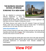 Barbara Seagram School of Bridge is Moving to a New Home