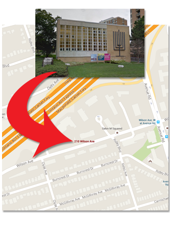 210 Wilson Ave, Temple Sinai, Toronto ON M5M 3B1
